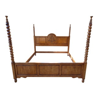Carved Wood Poster Bedframe