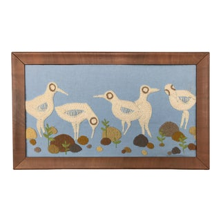 Framed Weaving of Five Marsh Birds