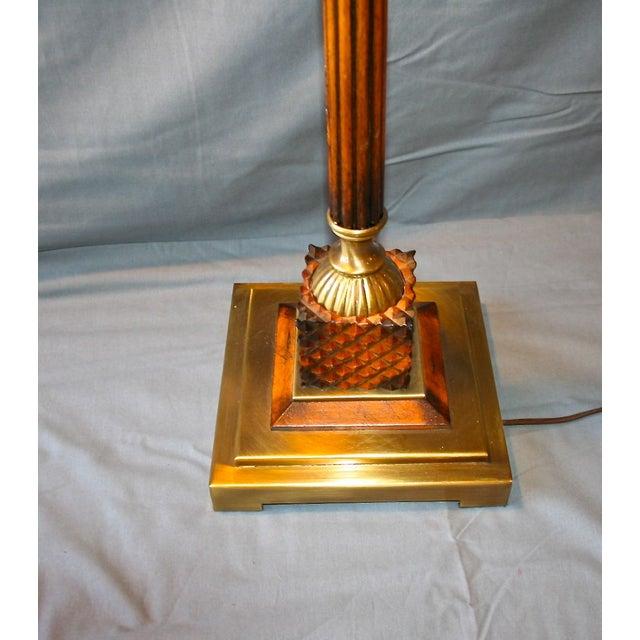 Wood & Bronze Floor Lamp - Image 6 of 6