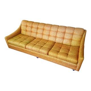Kroehler Avant Designs Mid Century Modern Orange Tweed Sofa Couch