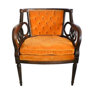 Mid-century Orange Lewittes Armchair