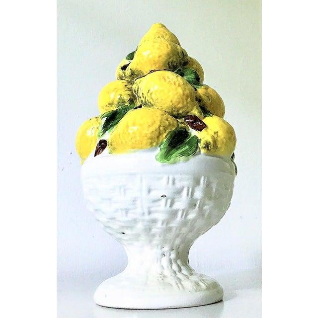 Mid Century Italian Majolica Lemon Topiary - Image 6 of 11