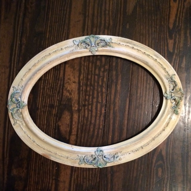 Antique oval frame wall decor chairish - Oval wall decor ...