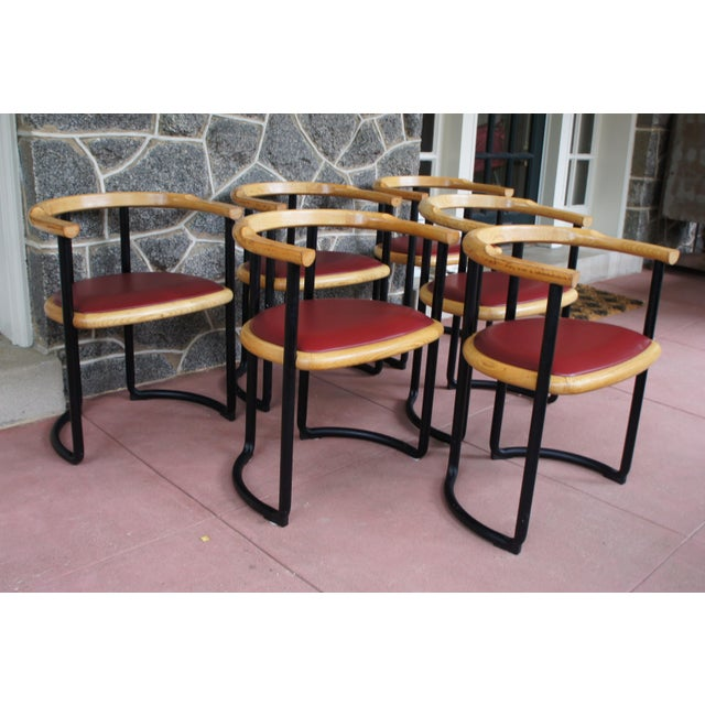 Ycami Collection Barrel Dining Chairs - Set of 6 - Image 5 of 11