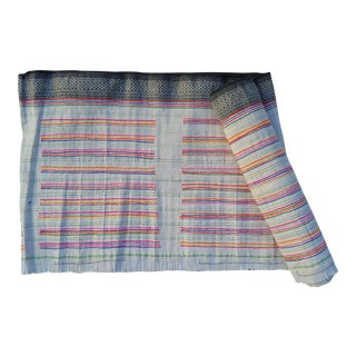Hill Tribe Homespun Embroidered Textile Roll