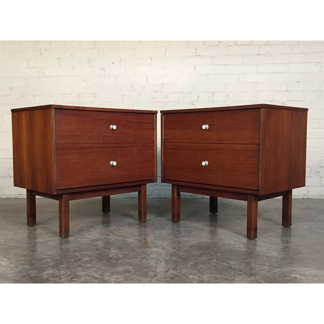 Mid-Century Danish Modern White Top Nightstands - a Pair - Image 3 of 10
