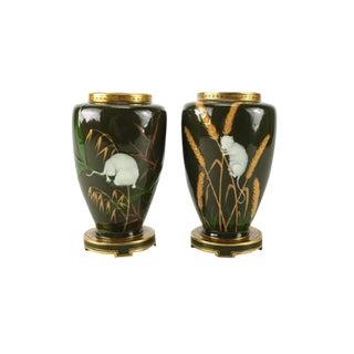 Minton Porcelain Pate-Sur-Pate Japonism Vases, 1880 - A Pair
