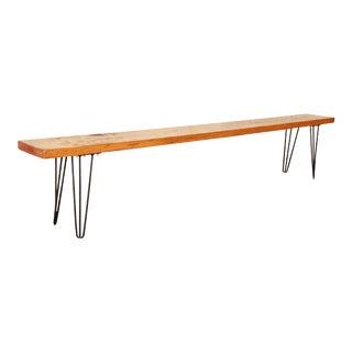 Mid-Century Modern Pine Bench