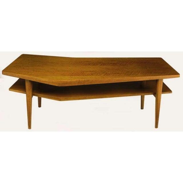 M.Singer & Sons Angled Italian Walnut Coffee Table - Image 6 of 9