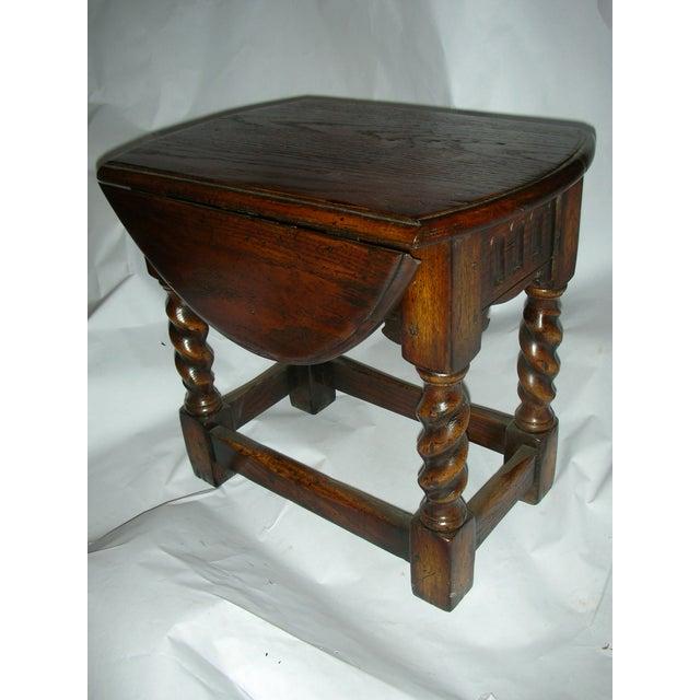 Oak Barley Twist Gate Leg Table Stool Chairish