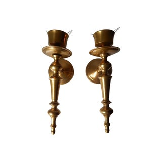 Traditional Brass Tapered Candle Holders