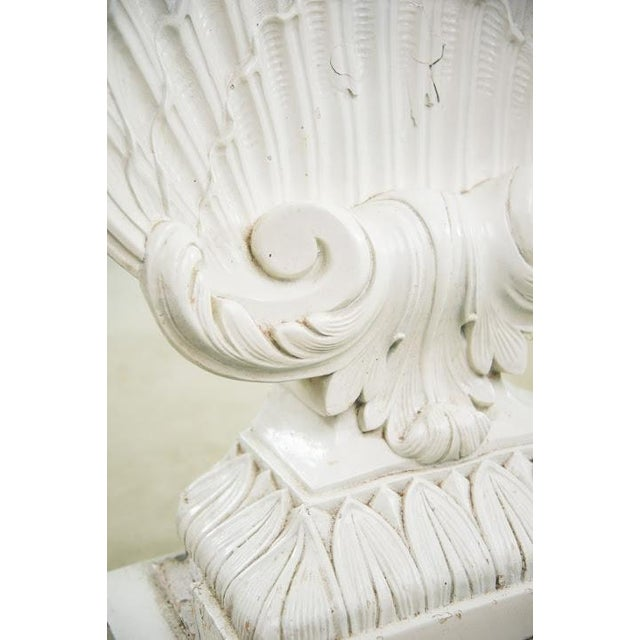 Nautical Seashell White Lacquered Entryway Table - Image 9 of 11
