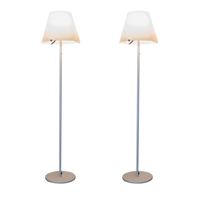 Rotaliana Italian Floor Lamps - Pair - Image 1 of 6