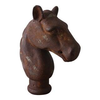 Antique Rustic Cast Iron Horse Head