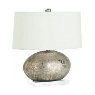 Modern Snakeskin Metallic Porcelain Table Lamp