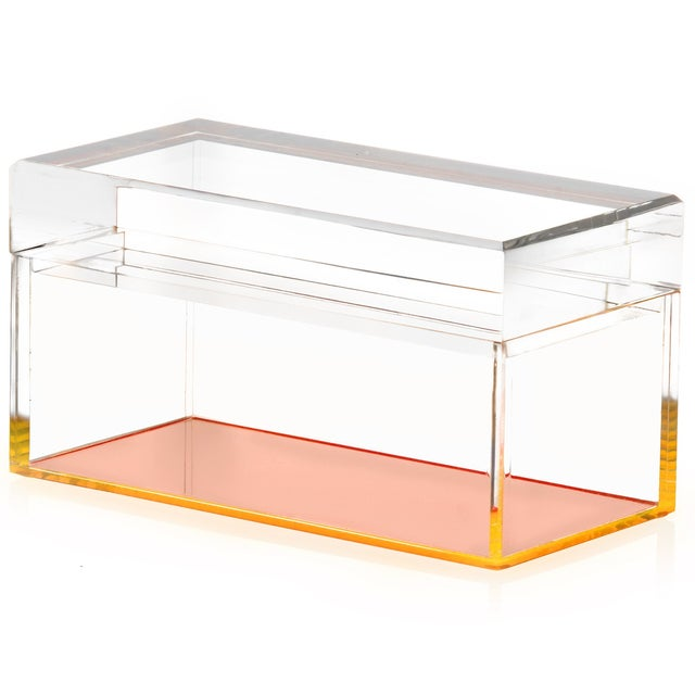 Alexandra Von Furstenberg Orange Lucite Box - Image 2 of 2