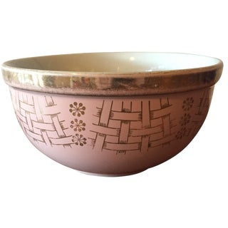 Small Pink & Gold Mixing Bowl