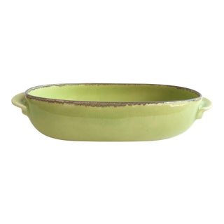 Winfield Chartreuse Pottery Serving Bowl