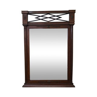 Antique Mahogany Regency Style Hanging Wall Mirror