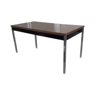 Mid-Century Modern Industrial Minimalist Table