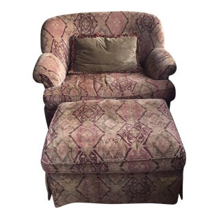 Wesley Hall Chair & Ottoman Set