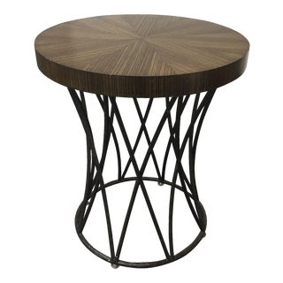 Newman Frey Sunburst Walnut Veneered Side Table