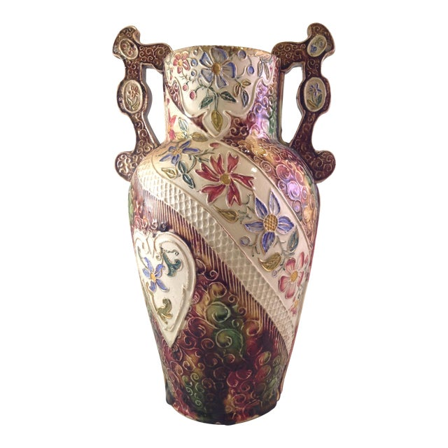 English Victorian Majolica Vase - Image 1 of 5