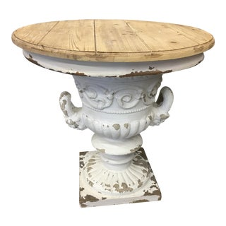 Distressed Urn Base Table