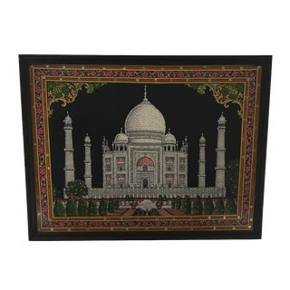 Taj Mahal Fabric Art Work