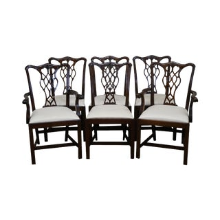 Councill Craftsman Solid Mahogany Chippendale Style Dining Chairs - Set of 6
