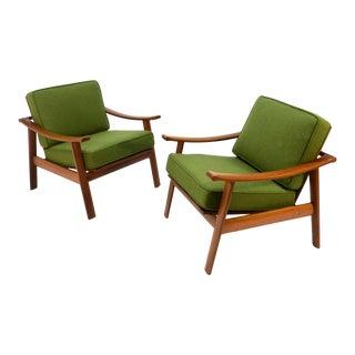 Danish Teak Lounge Chairs - A Pair