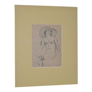 Granville Seymour Redmond Figural Nude Drawing c.1929