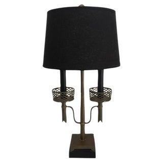 Tommi Parzinger Style Brass 2-Light Table Lamp