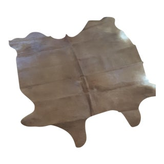 Argentinian Tan Cowhide Leather Rug - 5' x 7'