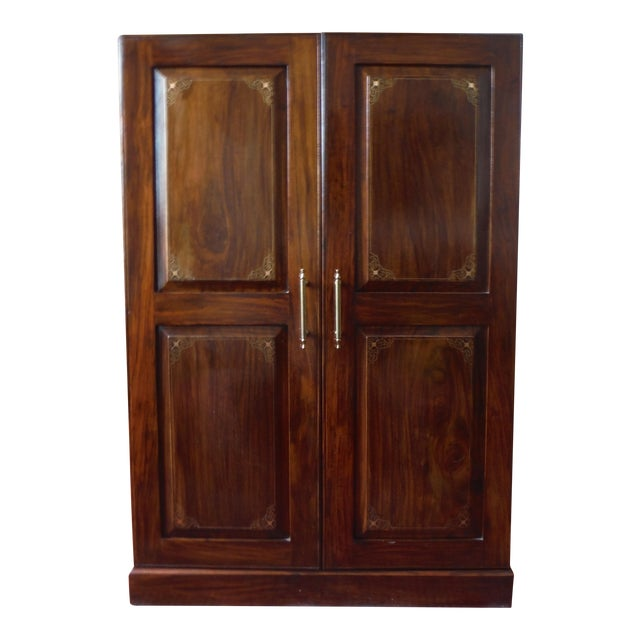 Indian Iron Wood CD/DVD Armoire - Image 1 of 10