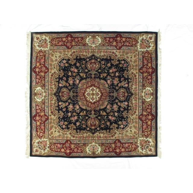 Square Sino Persian Carpet - 8′ × 8′1″ - Image 3 of 8