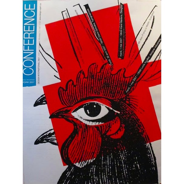 Original Halasa Poster Design, Rooster - Image 1 of 2