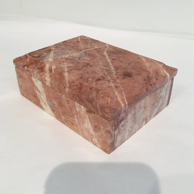 Vintage Beveled Marble Box - Image 5 of 6