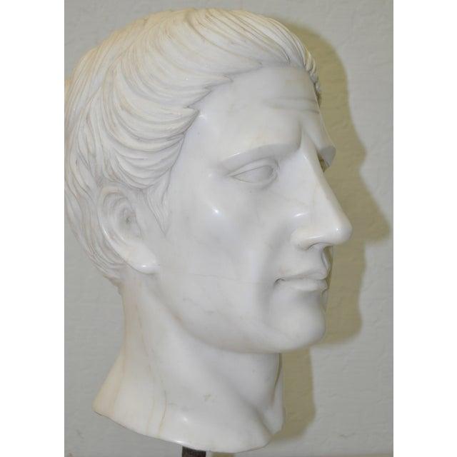 Image of Italian Marble Roman Bust C.1950