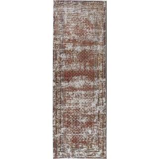 "Apadana - Vintage Distressed Persian Tabriz Rug 3'5"" x 10'2"""