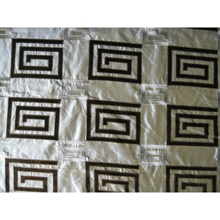Pale Turquoise Silk Velvet Design Fabric- 10 Yards