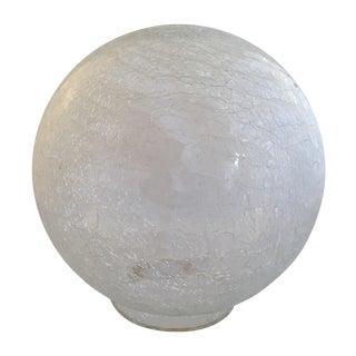 Mid-Century Modern Crackle Glass Globe