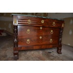 Image of Antique French Style Claw Foot Marble Top Commode