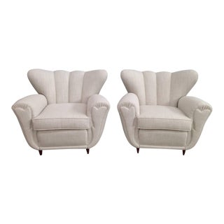 Guglielmo Ulrich Style Lounge Chairs - A Pair