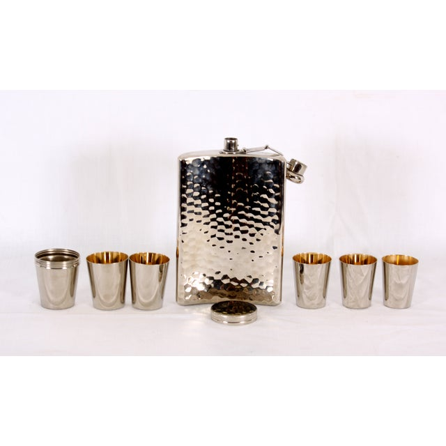 Image of German Flask with Shot Glasses - Set of 7