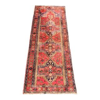 "Vintage Persian Hamadan Runner Rug - 3'2' x 8'4"""