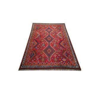 5′2″ × 8′4″ Vintage Persian Hand Made Knotted Rug - Size Cat. 5x7 5x8 6x9