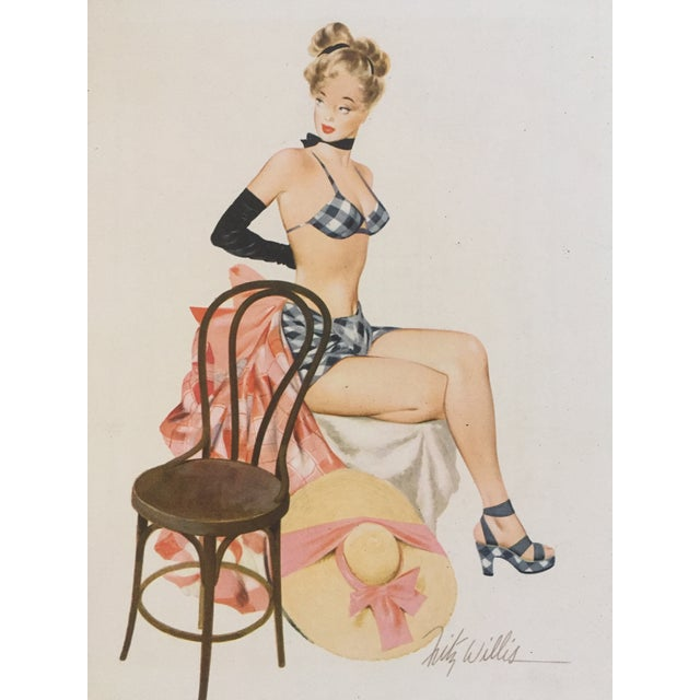 1948 Original Fritz Williams Pin Up Girl - Image 2 of 4