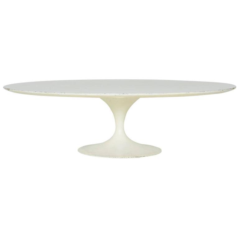 1950s Vintage Eero Saarinen For Knoll Tulip Coffee Table   Image 1 Of 2