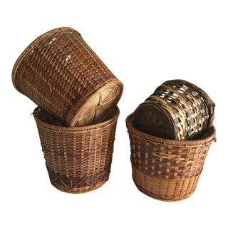 Boho Wicker Plant Vessels - Set of 4